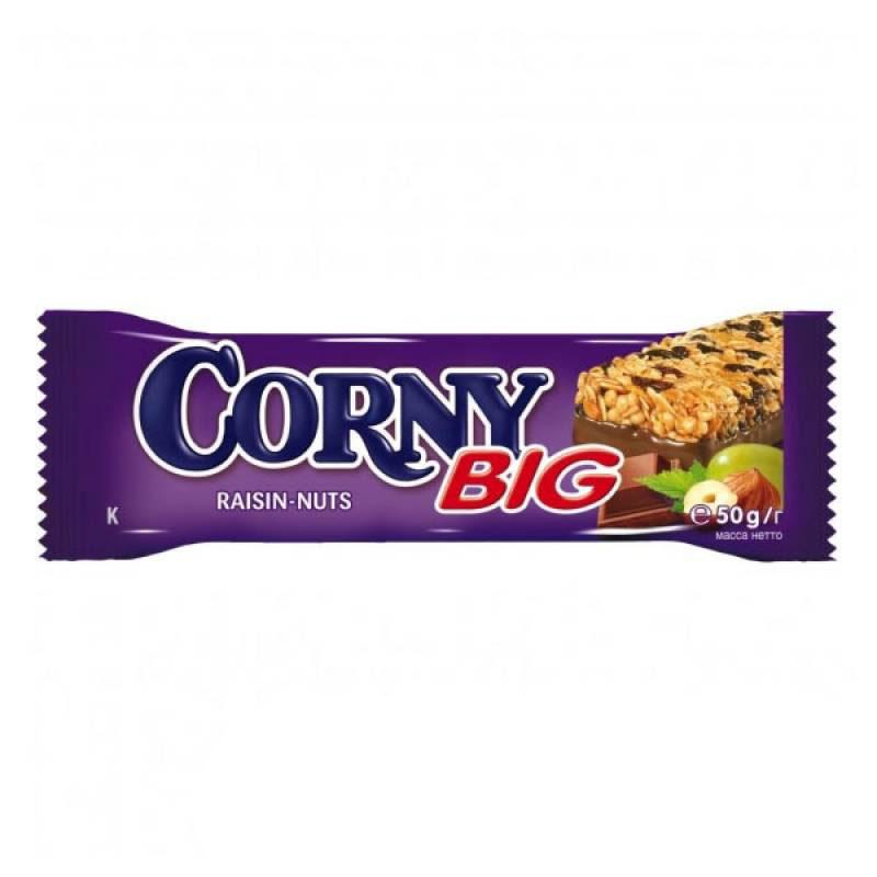 Батончик Schwartau Corny Big Злаковый 50 гр С изюмом орехом и молочным шоколадом<br>