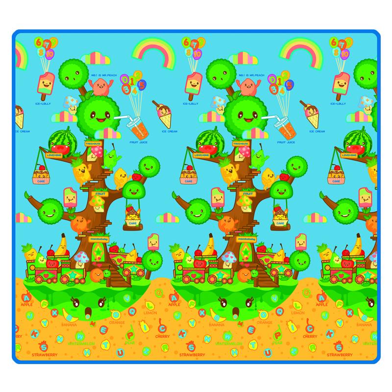 Детский развивающий коврик Mambobaby односторонний Фруктовое дерево 200х180х0.5<br>