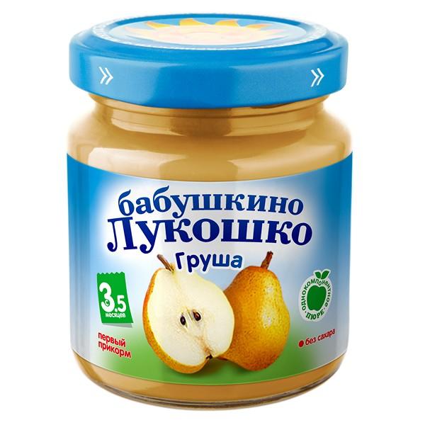 Пюре Бабушкино лукошко фруктовое 100 гр Груша (с 4 мес)<br>