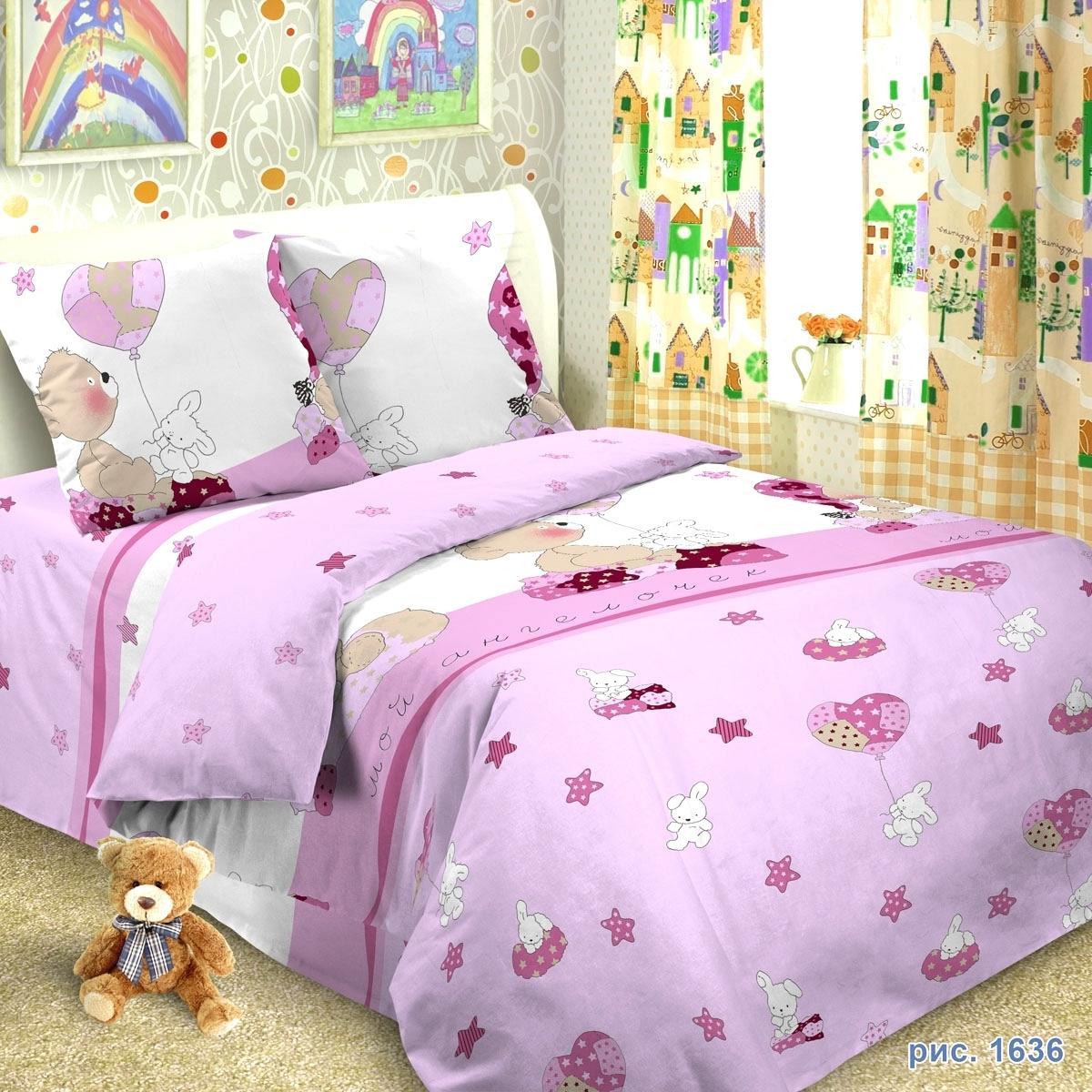Комплект постельного белья детский Letto в кроватку BG-37<br>
