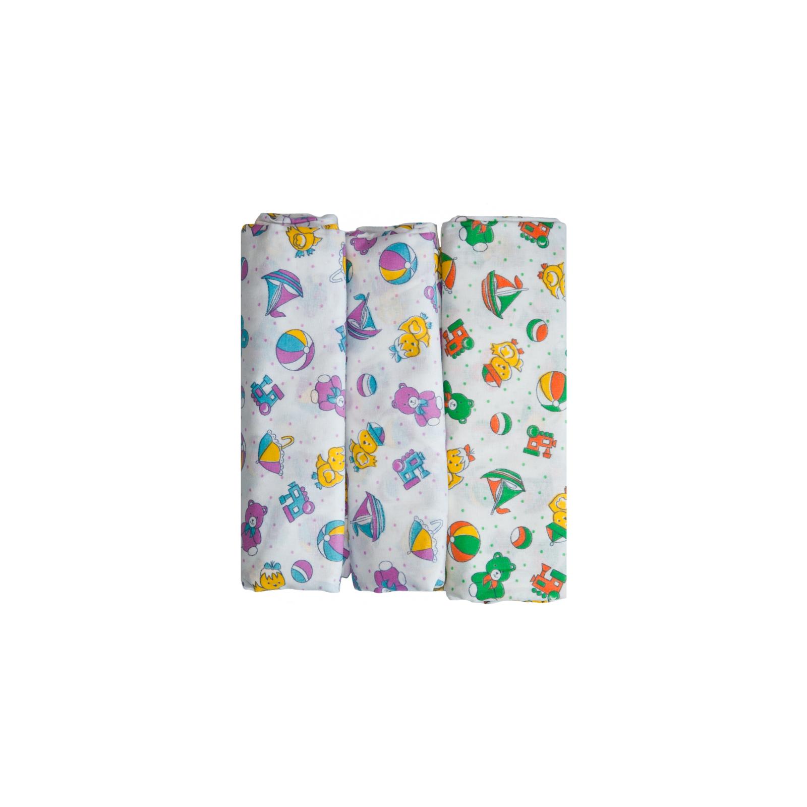 Комплект пеленок КОТМАРКОТ размер 90х120 см цвет белый, с набивкой 3 шт.<br>