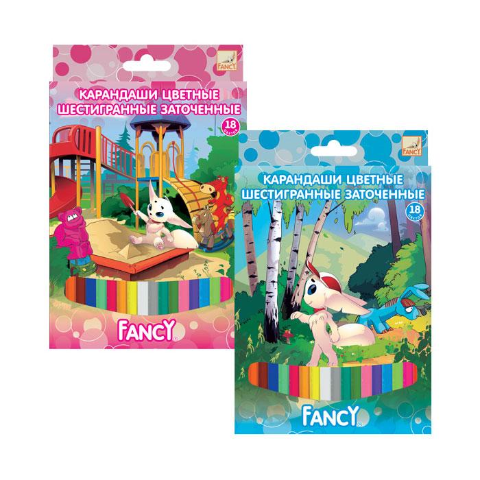 Карандаши ACTION! Цветные FANCY (18 цветов) от Младенец.ru