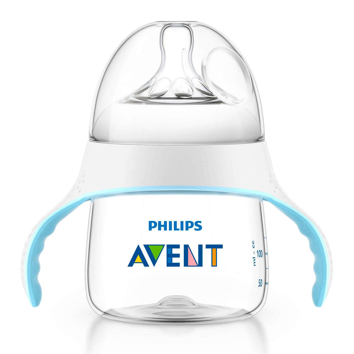 Бутылочка Philips Avent Natural Тренировочная с ручками 150 мл (с 4 мес)<br>