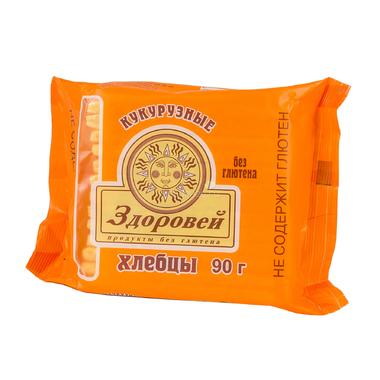 Хлебцы Здоровей без глютена 90 гр Кукурузные