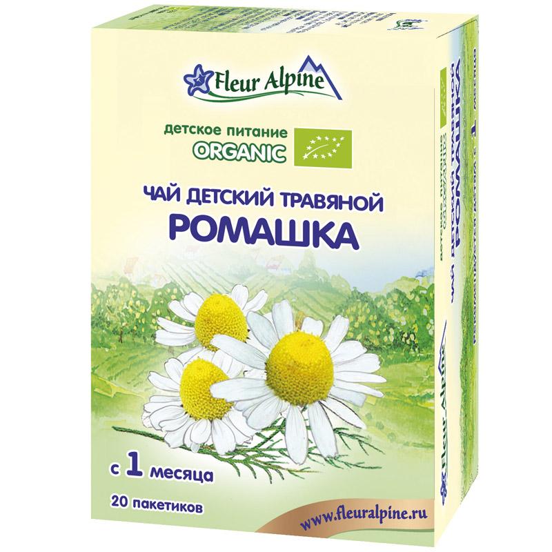 Чай детский Fleur Alpine Organic 20 гр (20 пакетиков) Ромашка (с 1 мес)<br>
