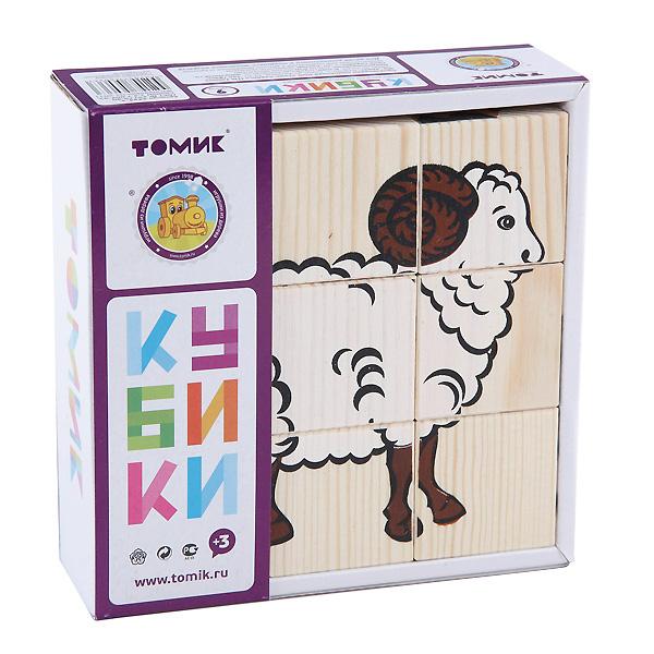 Кубики Томик Домашние животные (9 кубиков)<br>