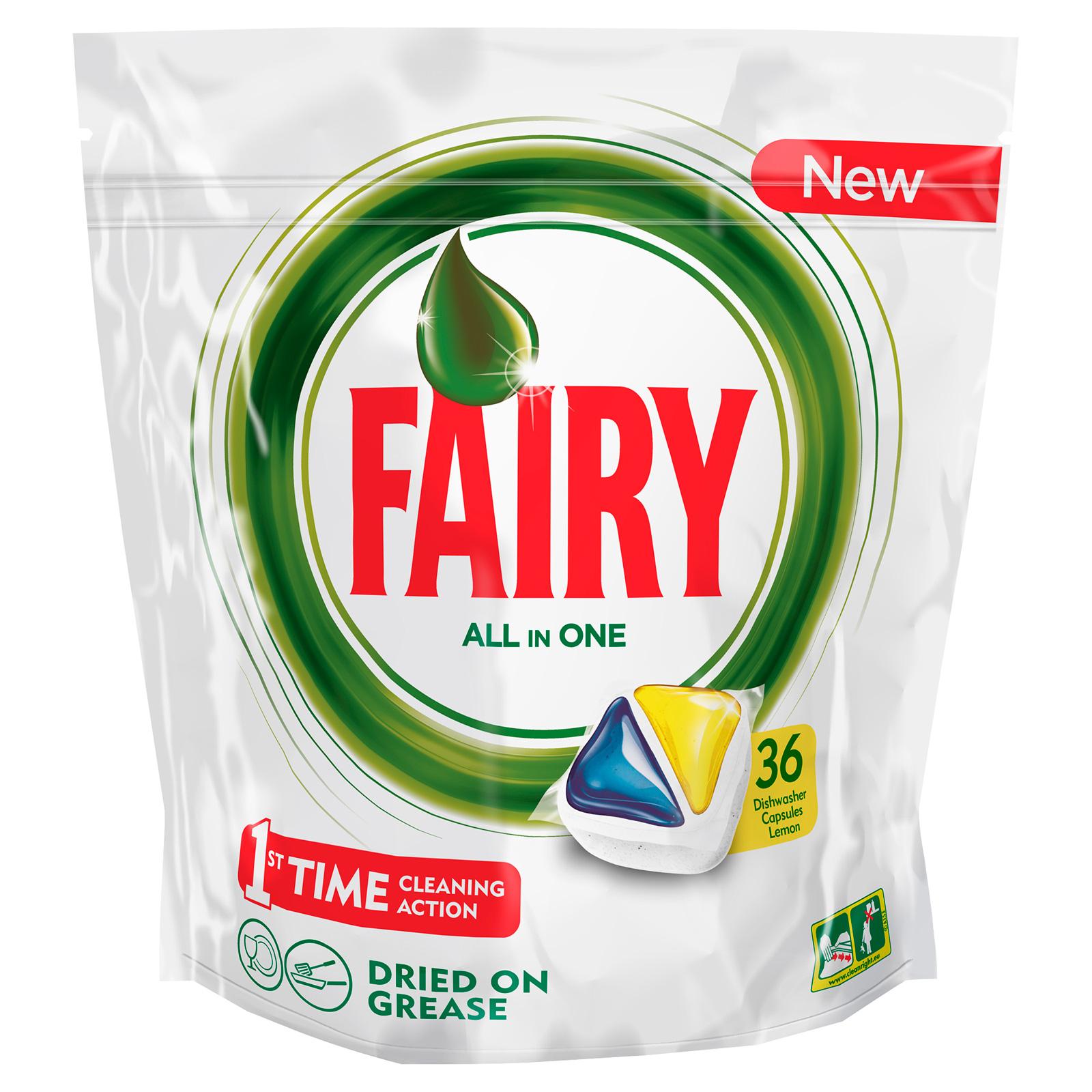 Капсулы для посудомоечной машины FAIRY Original All In One Лимон (36 шт)<br>