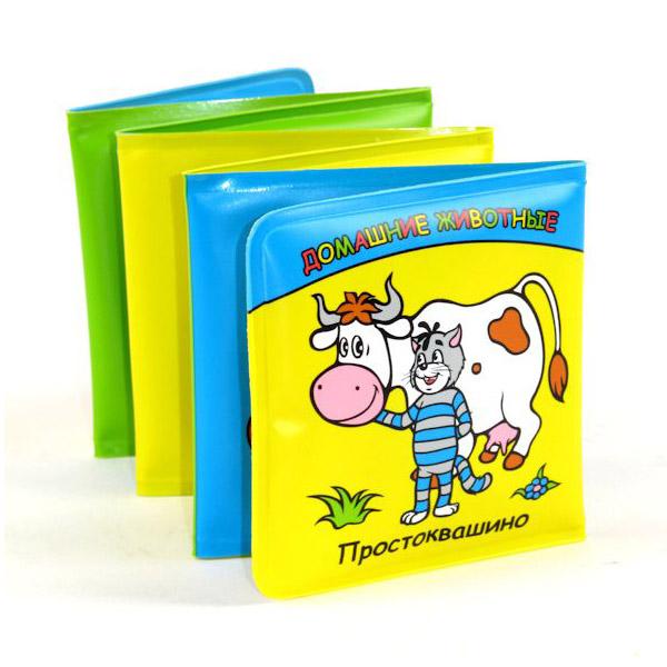 Книга-раскладушка Умка для ванной Домашние животные Простоквашино