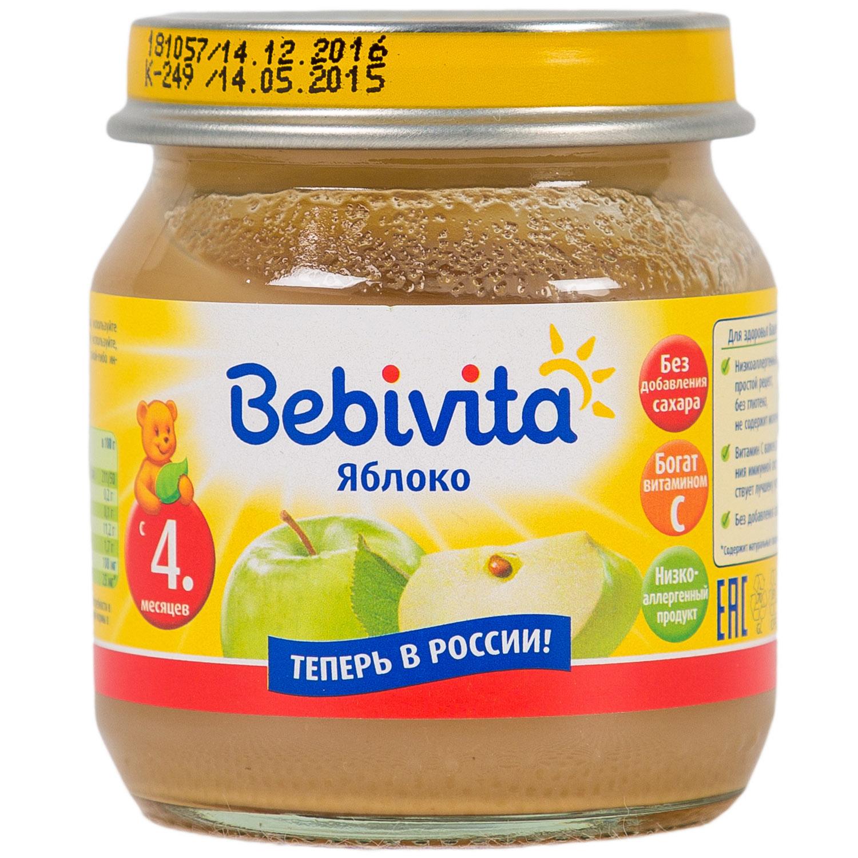 Пюре Bebivita фруктовое 100 гр Яблоко (с 4 мес)<br>