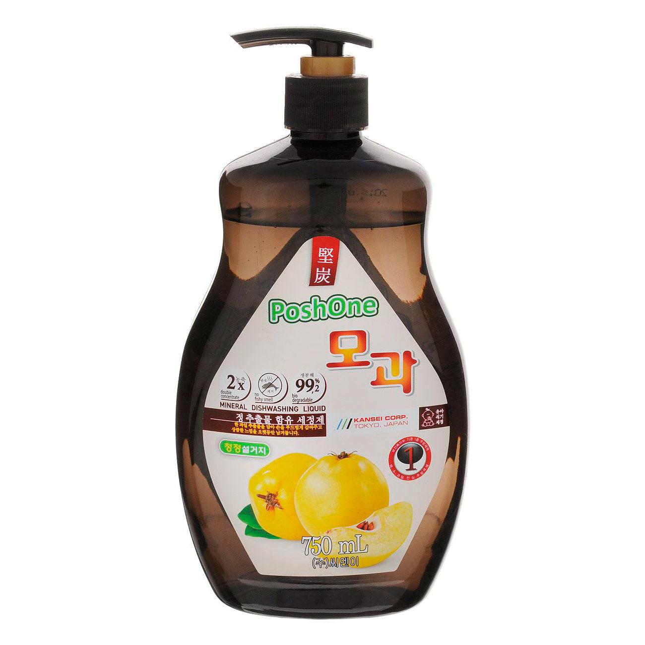 Средство для мытья посуды, овощей и фруктов Posh one с экстрактом Айвы 750 мл<br>