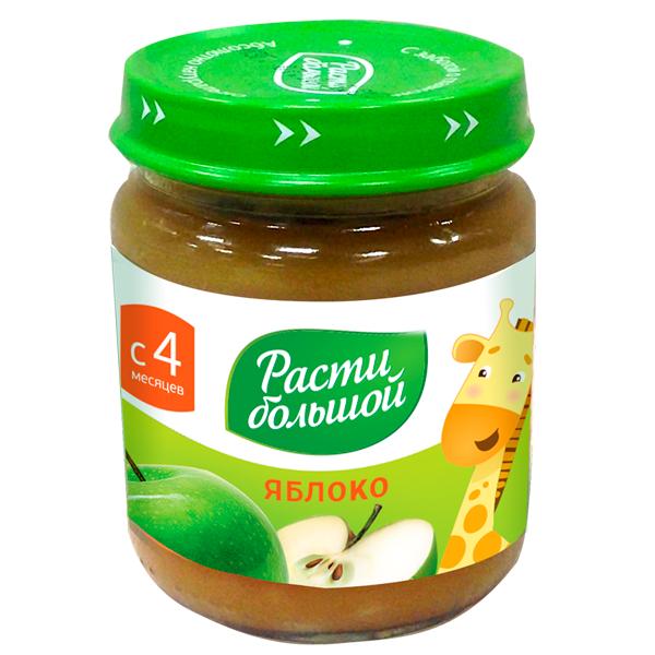 Пюре Расти Большой фруктовое 100 гр Яблоко (с 4 мес)