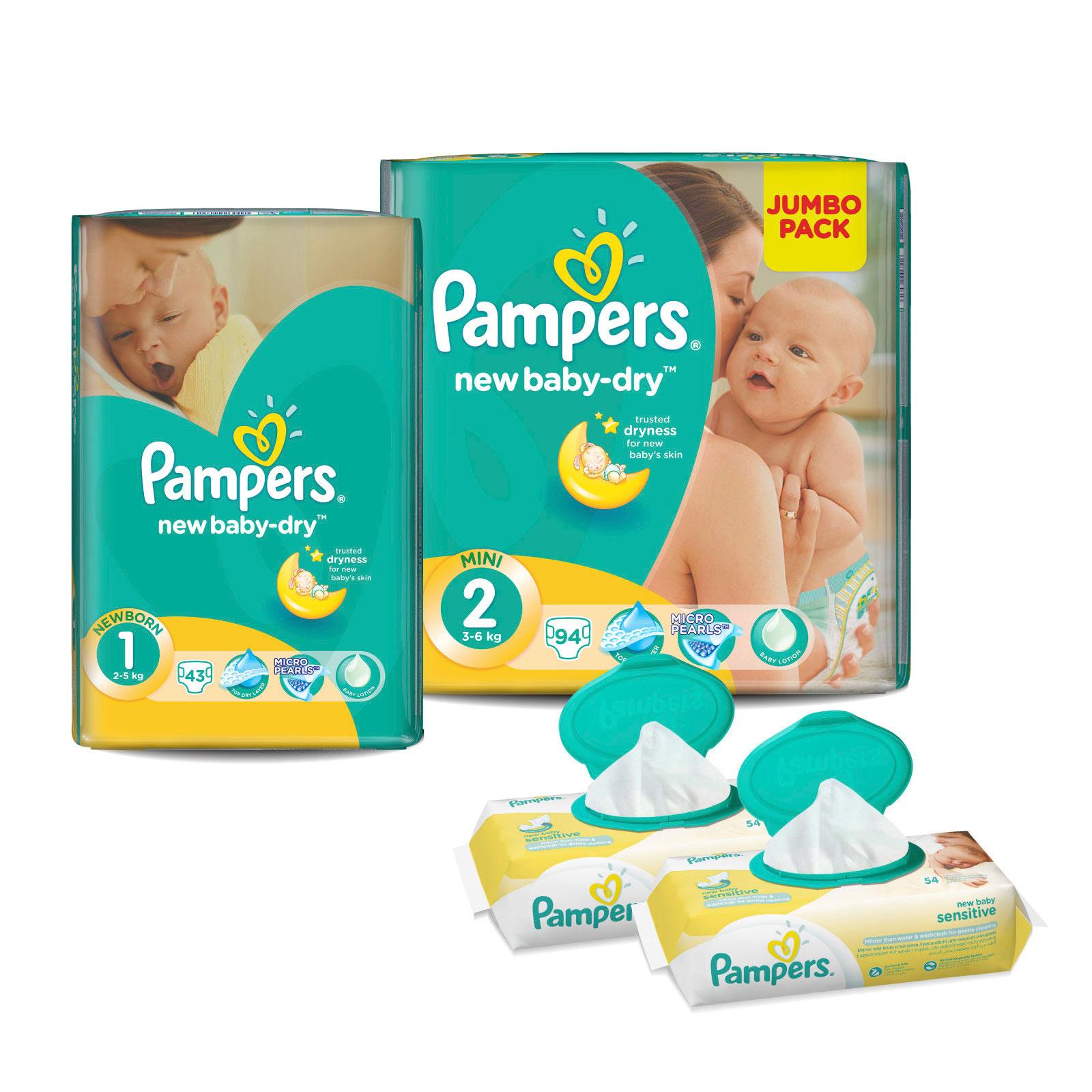 Набор Pampers № 1 Для новорожденного New Baby (1-2 размеры)<br>