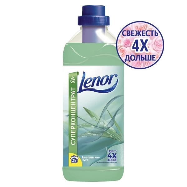 Кондиционер для белья LENOR Хлопок (концентрированный) 1 л Альпийские луга<br>