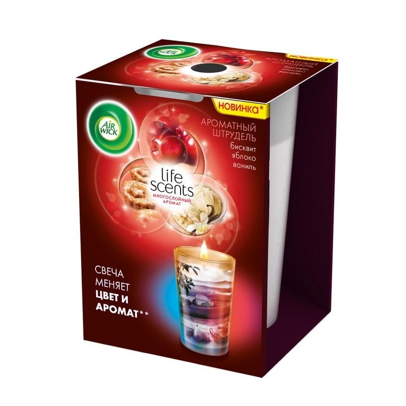 Ароматизированная свеча Airwick Life Scents ароматный штрудель 140 г<br>