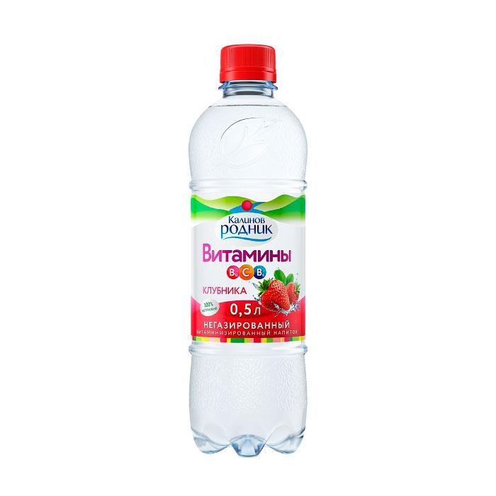 Вода Калинов Родник витаминизированная клубника 0,5л (с 5 лет)<br>