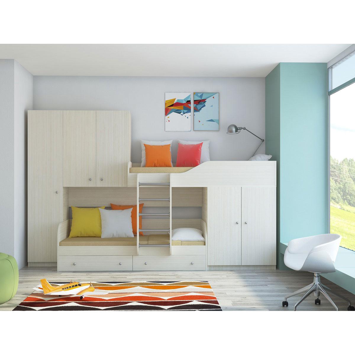 Набор мебели РВ-Мебель Лео Дуб молочный<br>