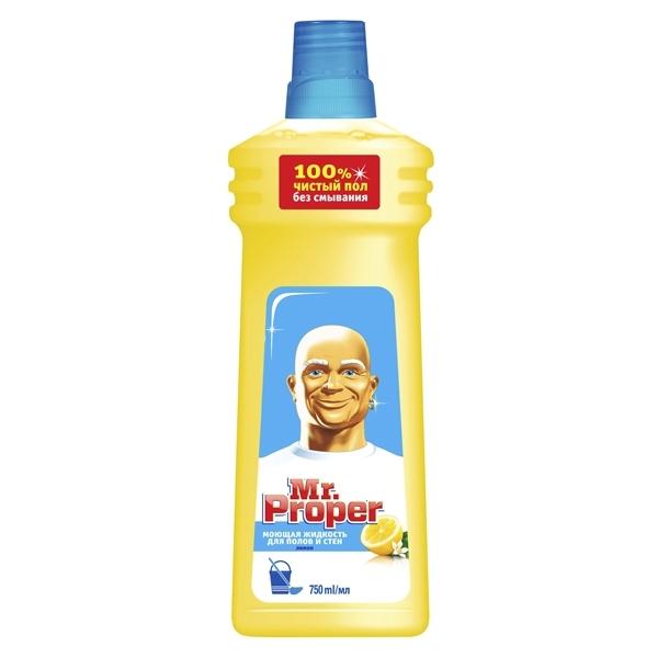 Средство для мытья полов и стен Mr Proper 750 мл Лимон<br>