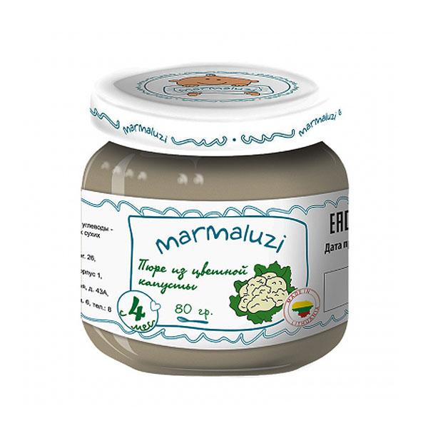 Пюре Marmaluzi овощное 80 гр Цветная капуста (с 4 мес)<br>