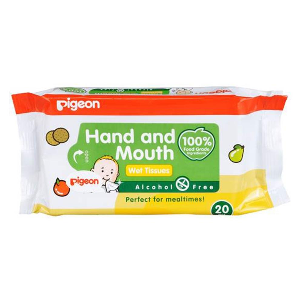 Салфетки влажные  Pigeon для сосок, игрушек, фруктов 20 шт<br>
