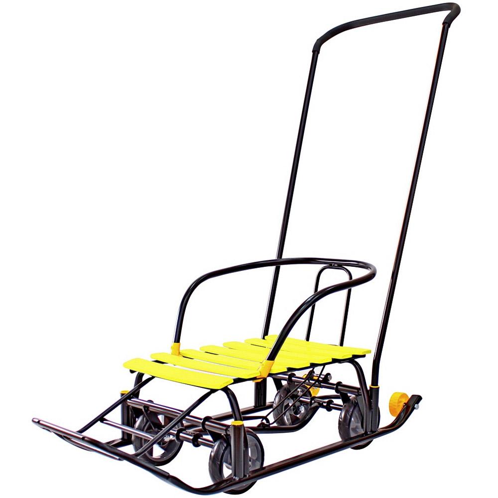 Санимобиль Snow Galaxy Black Auto на больших мягких колесах Желтый<br>