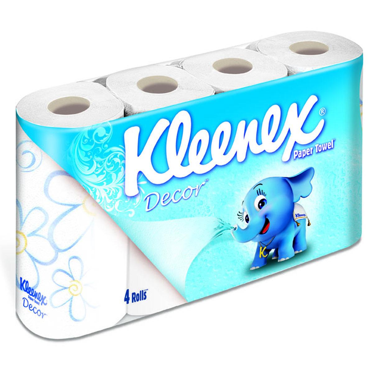 Полотенца бумажные Kleenex декор (2 слоя) 4 шт<br>