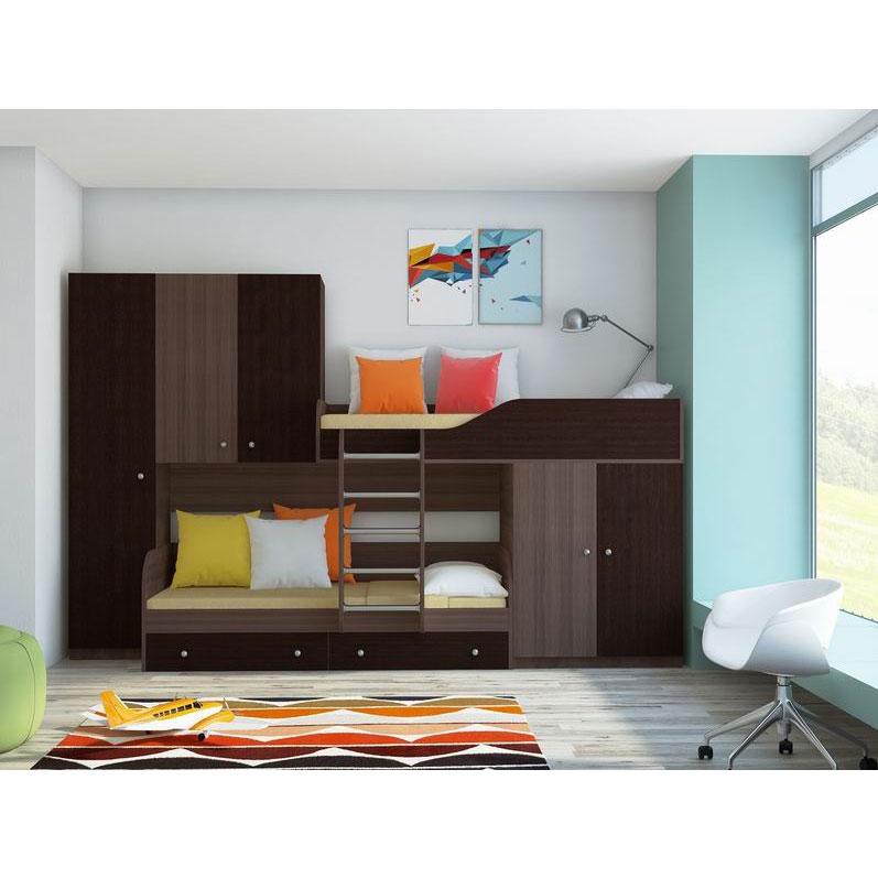 Набор мебели РВ-Мебель Лео Дуб шамони/Венге<br>