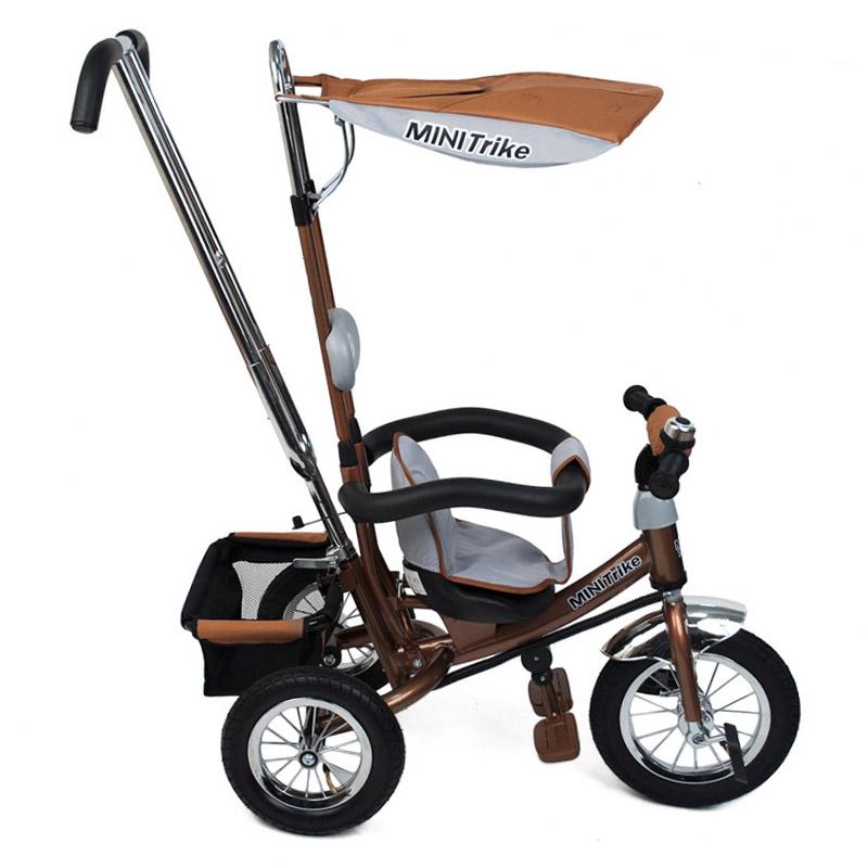 Велосипед трехколесный Mini Trike с надувными колесами 1210 Коричневый<br>