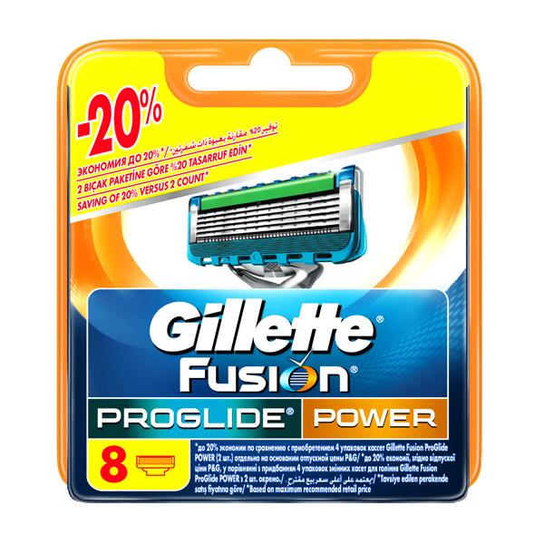 Сменные кассеты для бритья Gillette Fusion ProGlide Power 8 шт<br>