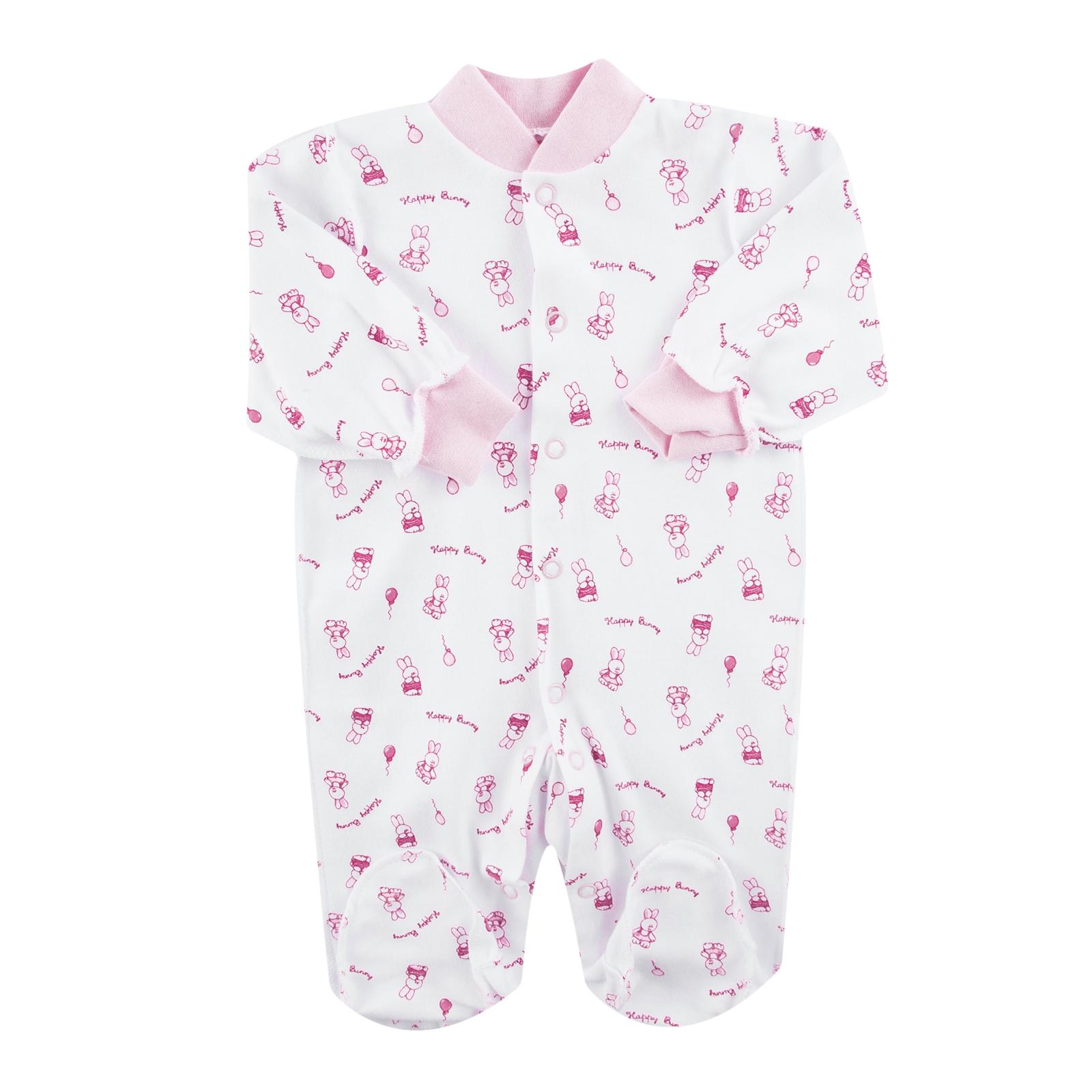 Комбинезон КОТМАРКОТ для девочки, цвет набивка розовый тон 1-3 мес (размер 62)<br>