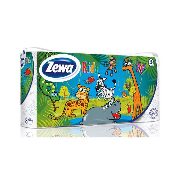 Туалетная бумага Zeva Kids детская (3 слоя) 8шт (Zewa Зева)