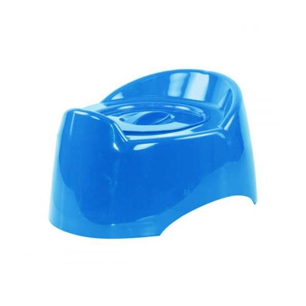 Горшок детский Пластик Малышок с крышкой Цвет - голубой 1324М<br>