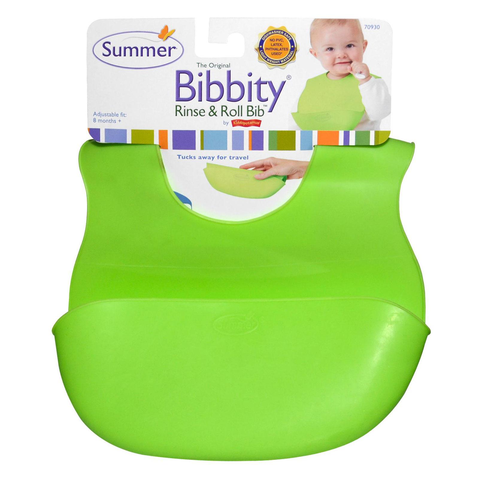 Слюнявчик Summer Bibbity зеленый с кармашком (с 6 мес)<br>
