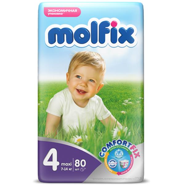 Подгузники Molfix Comfort Fix Maxi 7-14 кг. (80 шт.) Размер 4<br>