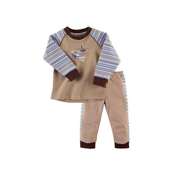 Пижама Наша Мама для мальчика рост 104 бежевый<br>