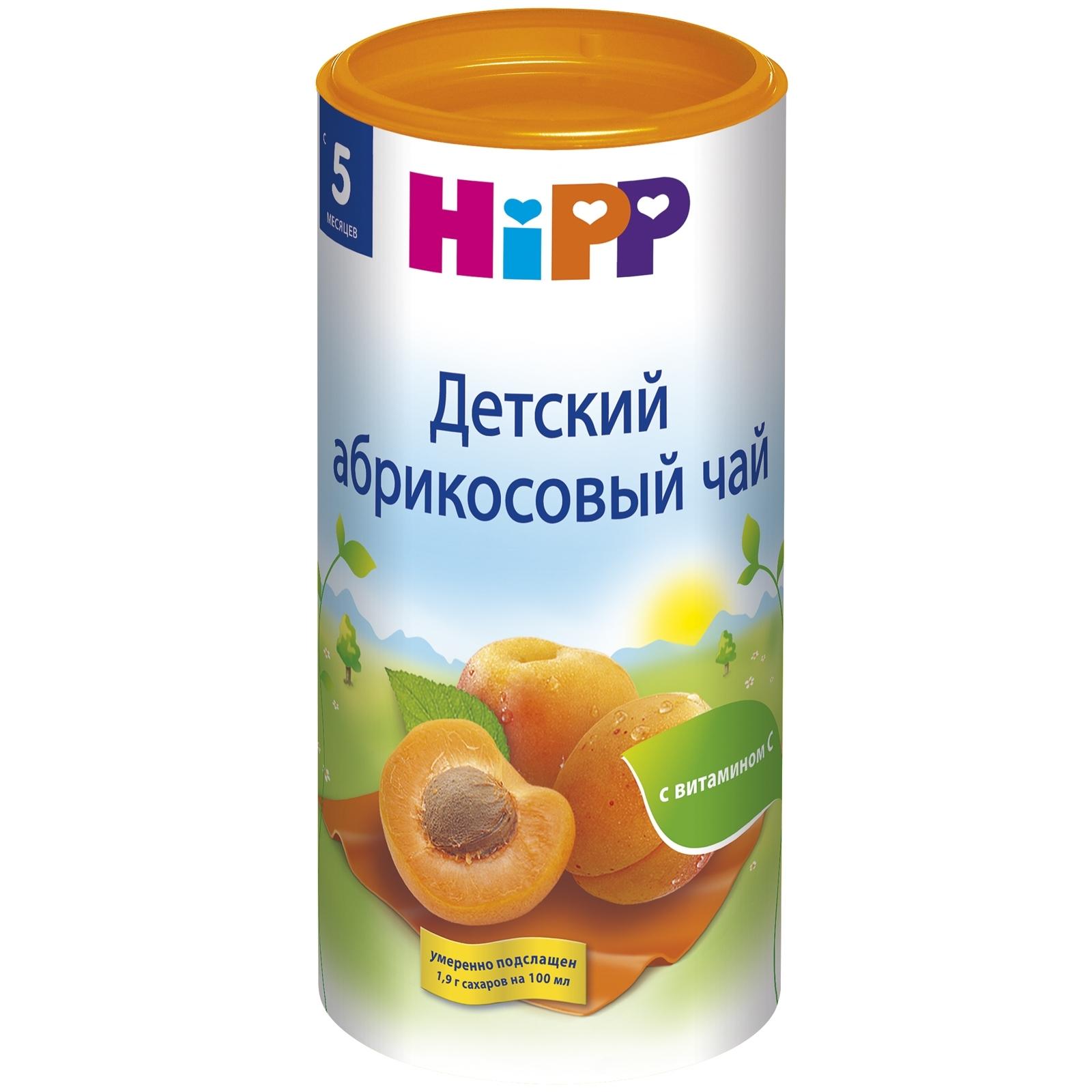 Чай детский Hipp быстрорастворимый 200 гр Абрикос (с 5 мес)<br>