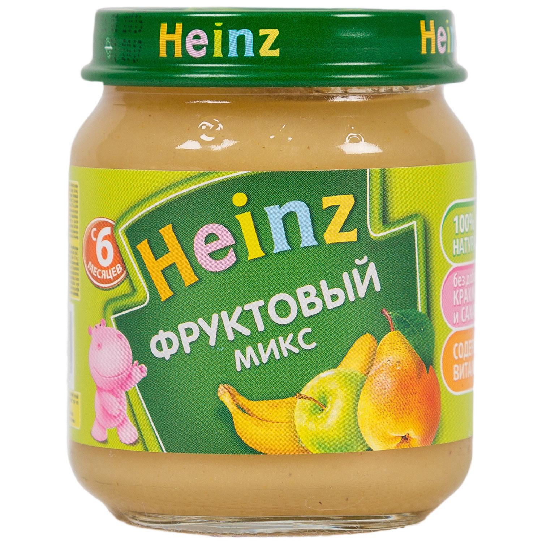 Пюре Heinz фруктовое 120 гр Фруктовый микс (с 6 мес)<br>