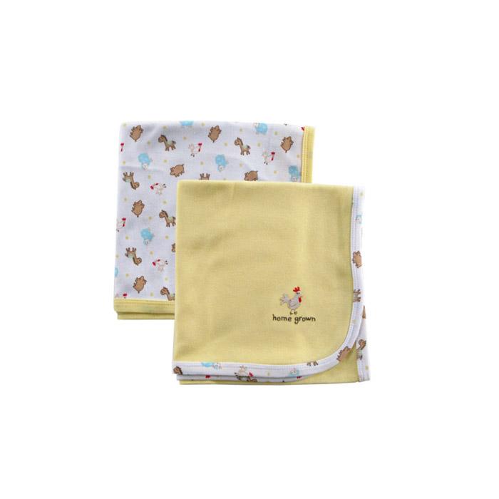 Комплект Luvable Friends Лавбл Фрэндс трикотажные пелёнки 2 шт. (76*101 см) Желтый