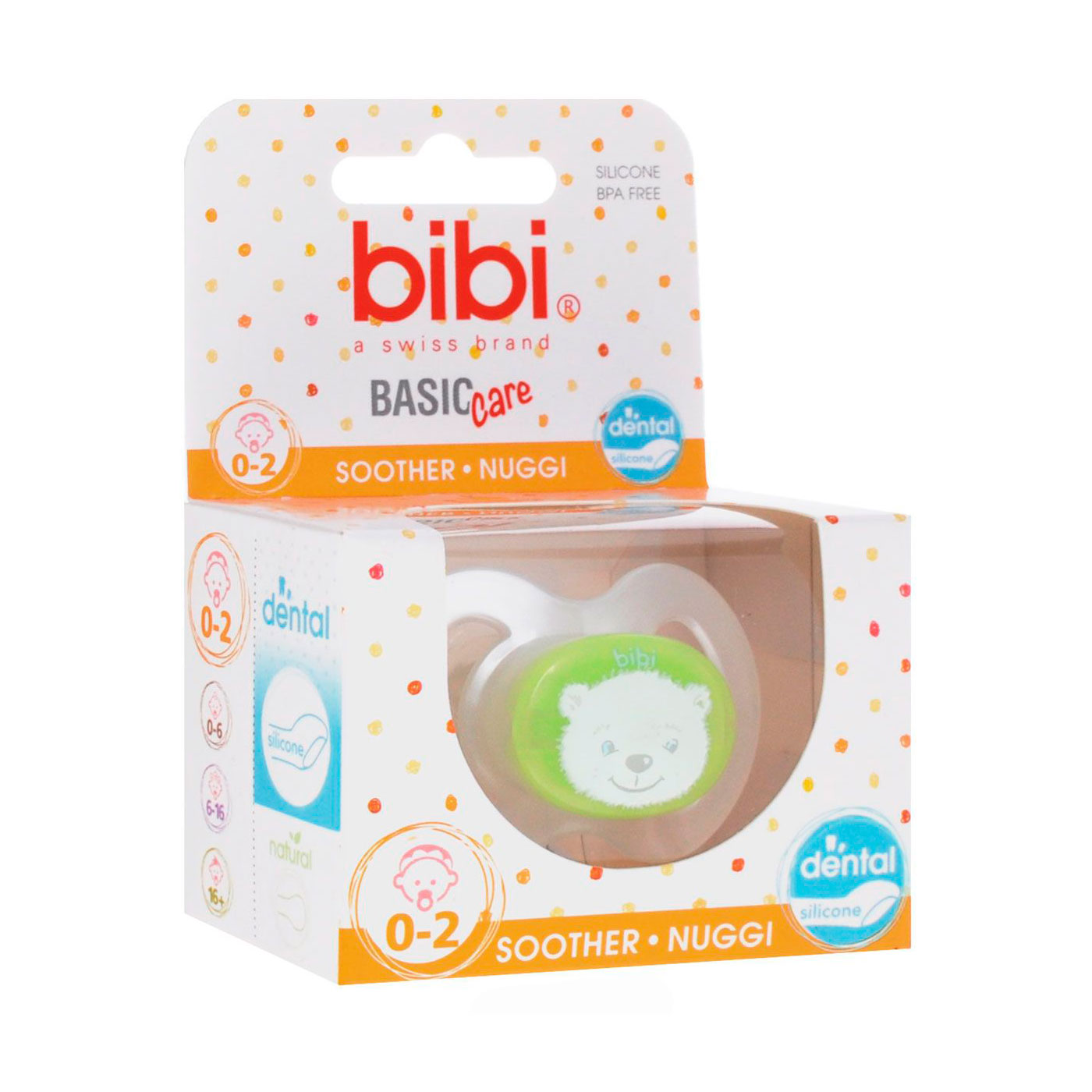 Пустышка Bibi Dental BasicCare New Born (с 0 мес)<br>