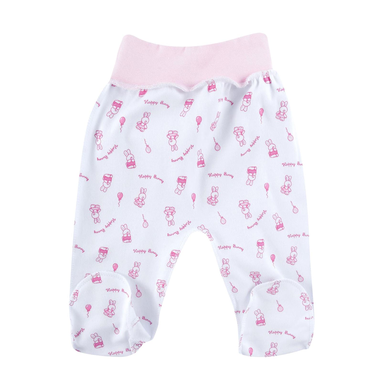 Ползунки на поясе КОТМАРКОТ для девочки, цвет розовый 1-3 мес (размер 62)<br>