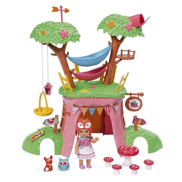 Набор для кукол Zapf Creation Chou Chou Дерево-домик функциональный с Мини-лисичкой и куклой<br>
