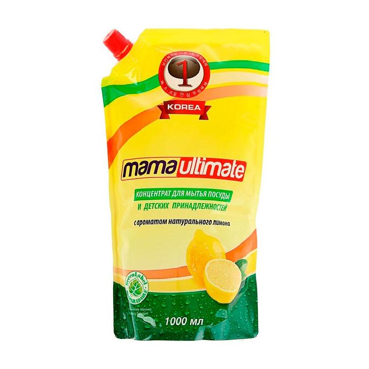 Средство для мытья посуды Lion Mama Ultimate Лимон 1000 мл запасной блок<br>