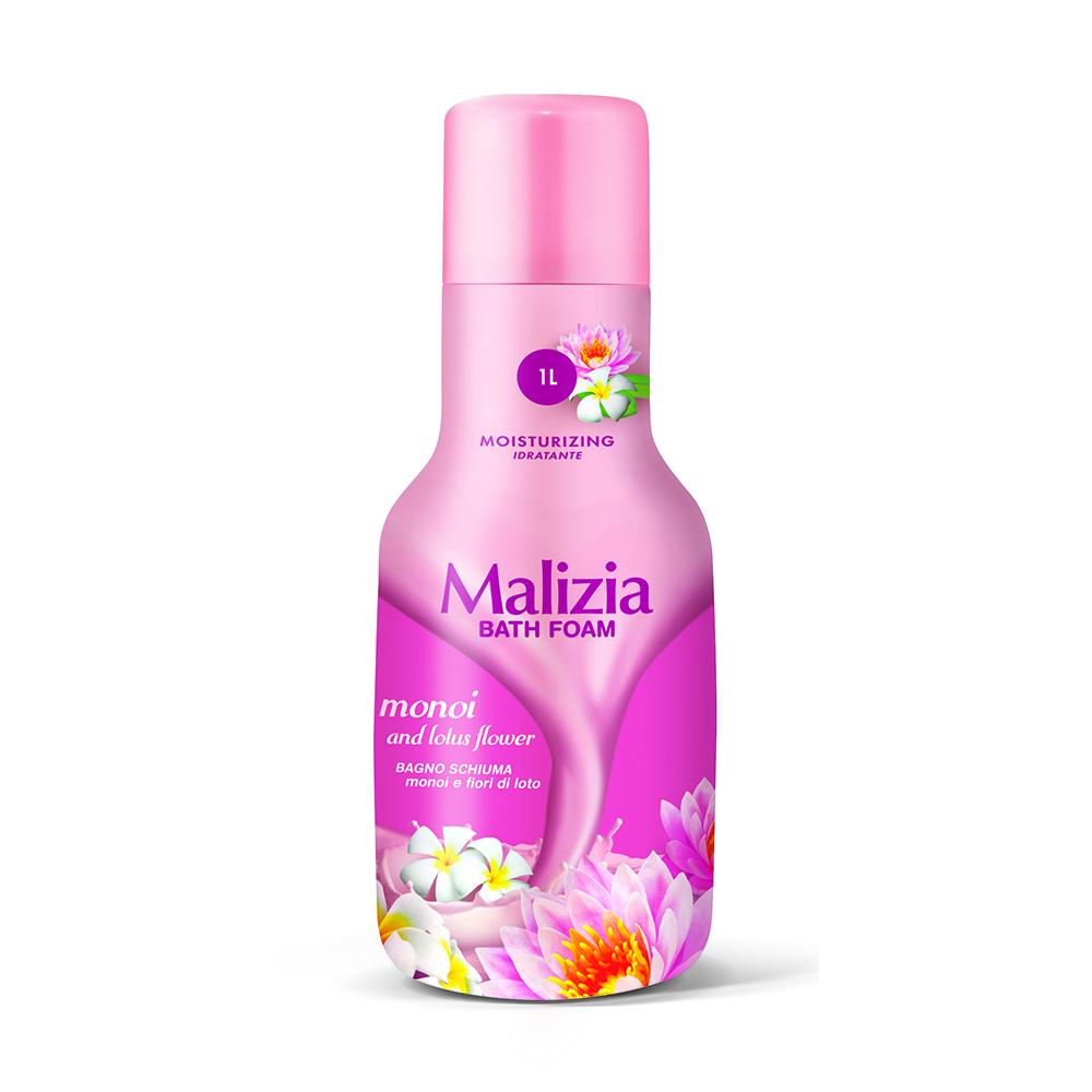 Пена Malizia для душа и ванны 1000 мл Монои и Лотос Monoi<br>