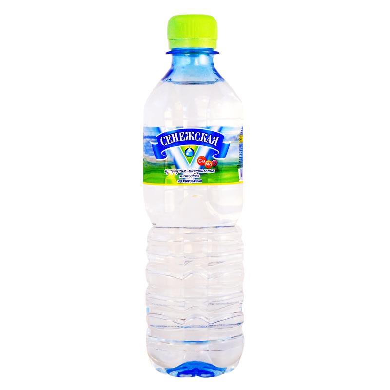 Вода минеральная Сенежская 0,5 л Негазированная 0,5 л (пластик)<br>