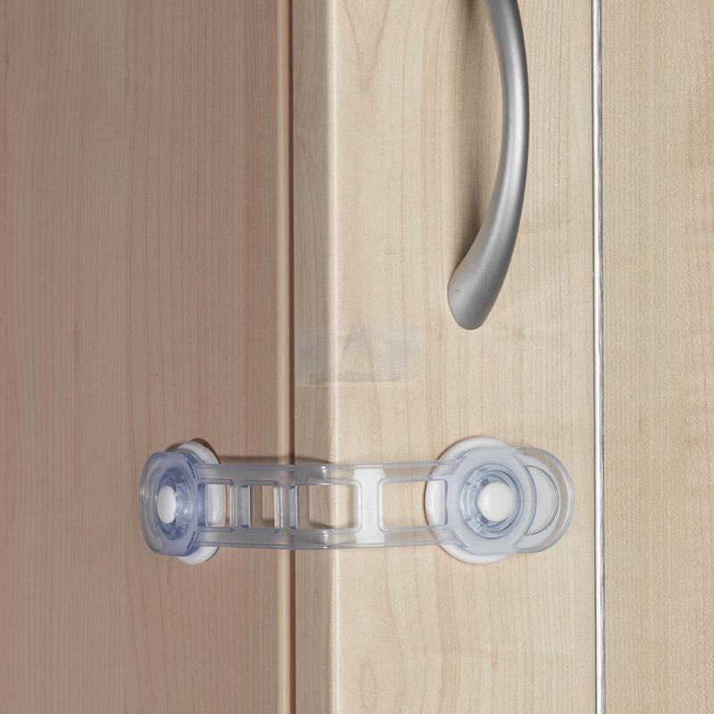 Защита двери Clippasafe Замок универсальный угловойна присоске Белый<br>