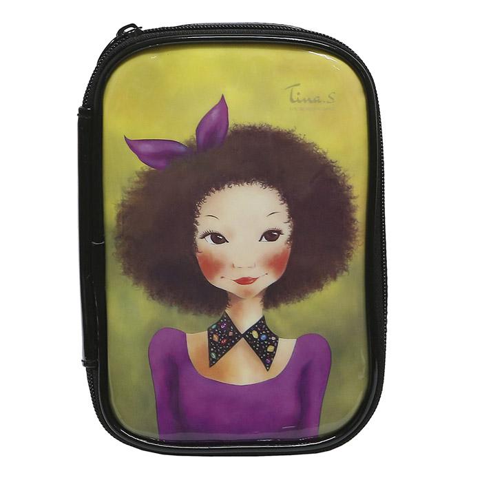 Косметичка Fascy BBOGEUL Tina Enamel Pouch (фиолетовое платье)<br>