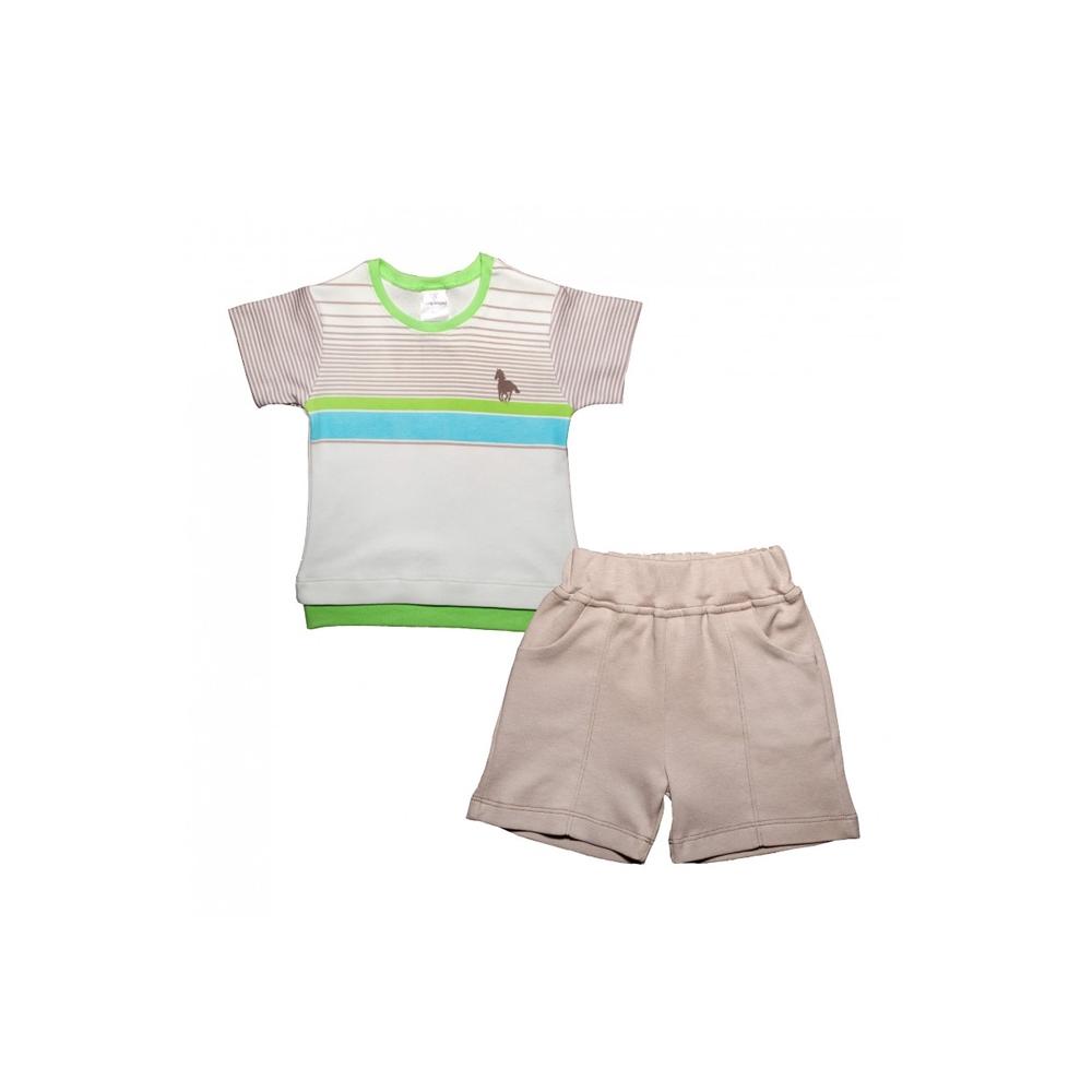Комплект Мамуляндия Поло футболка и шорты рост 74<br>