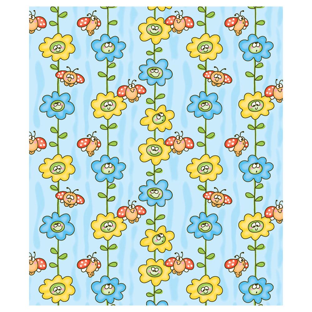 Одеяло Baby Nice байковое 100% хлопок 100х118 Божья коровка на цветке Голубой<br>