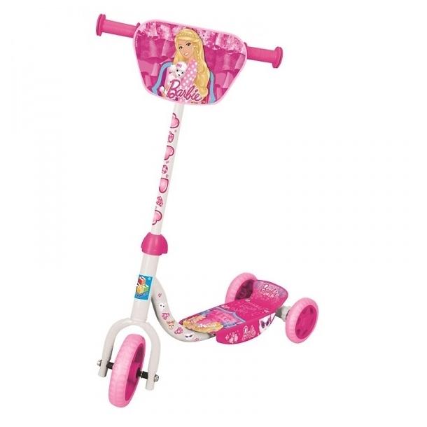 Самокат 1toy трехколесный Barbie с декоративной панелью
