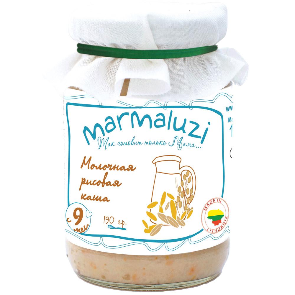 Каша Marmaluzi молочная 190 гр (готовая к употреблению) Рисовая (с 9 мес)<br>