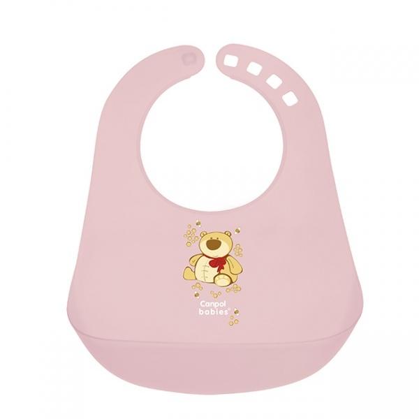Нагрудник Canpol Babies с кармашком розовый (с 12 мес)<br>